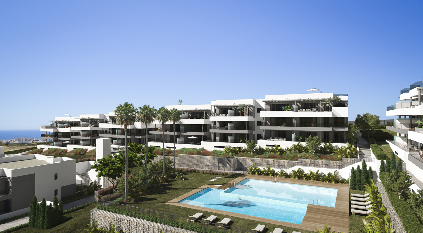 1,2,3,4 bed apartments in Estepona