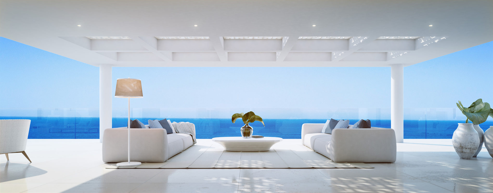 28 amazingly large 3 & 4 bedroom residences on the front line of the Mediterranean Sea. Estepona