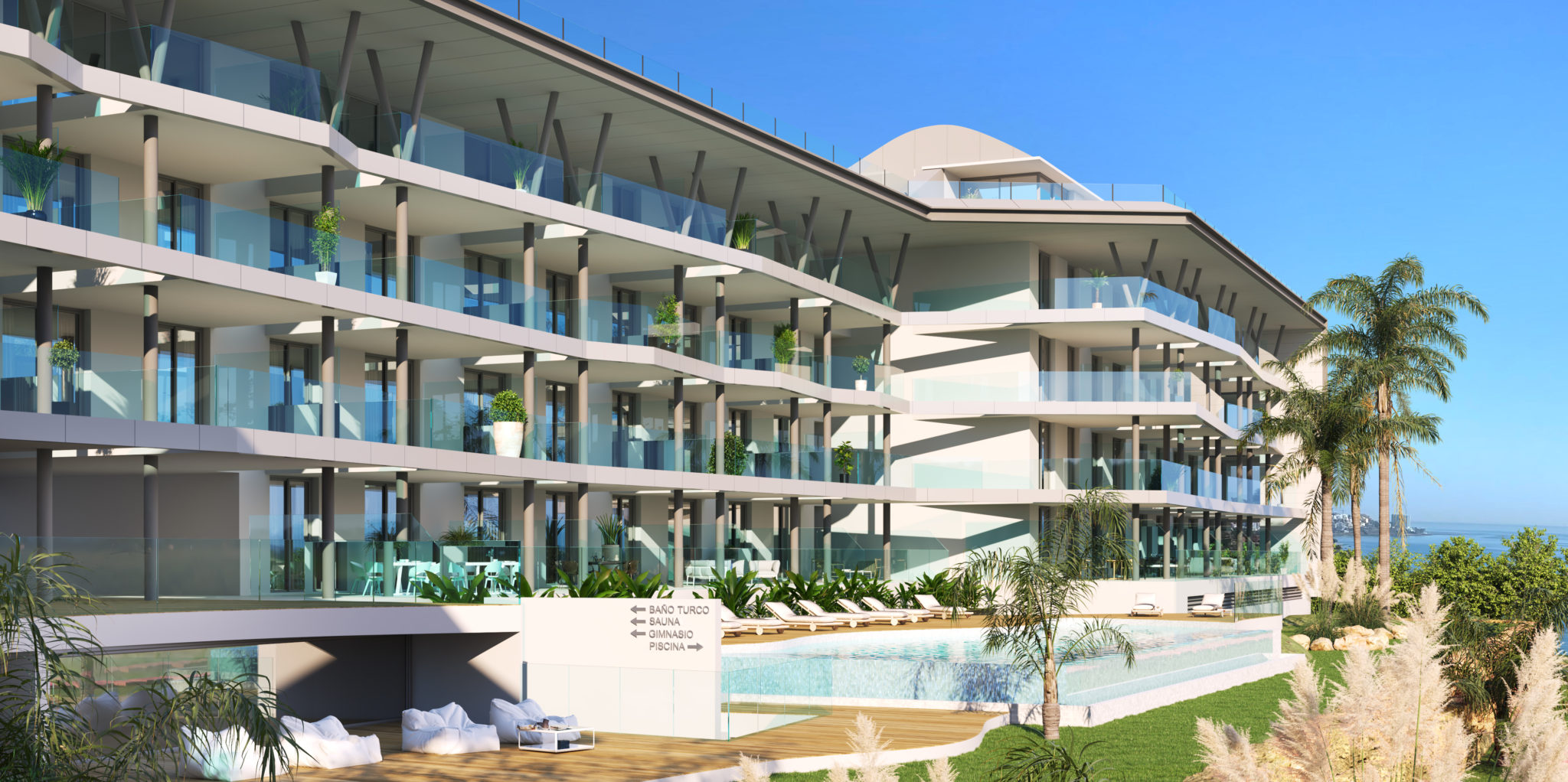 2,3 and 4 bedrooms and penthouses 180 seaviews in Fuengirola
