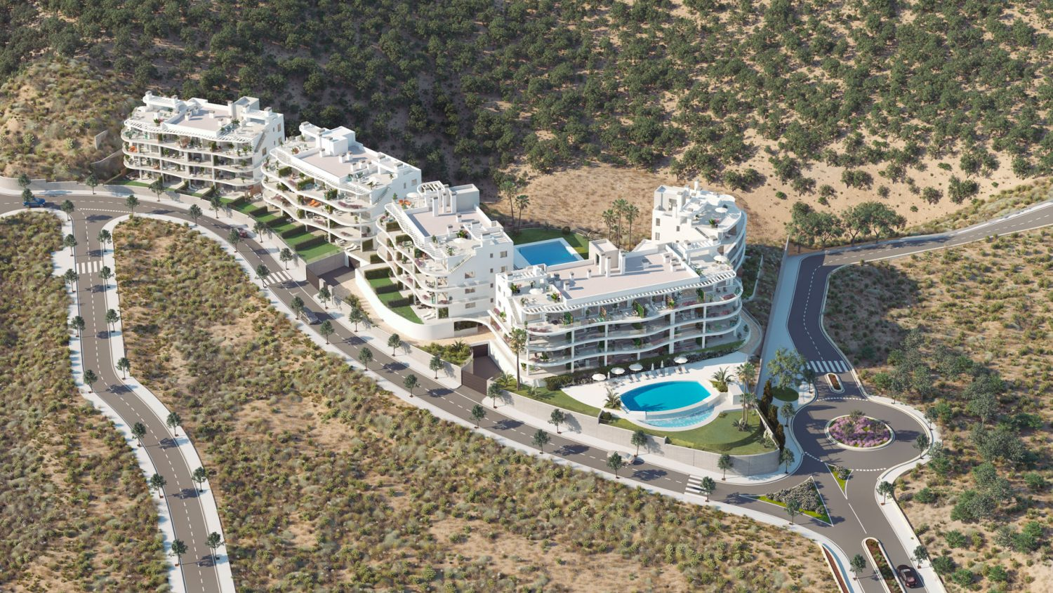 Homes of 2 and 3 bedrooms with large terraces and windows, Fuengirola
