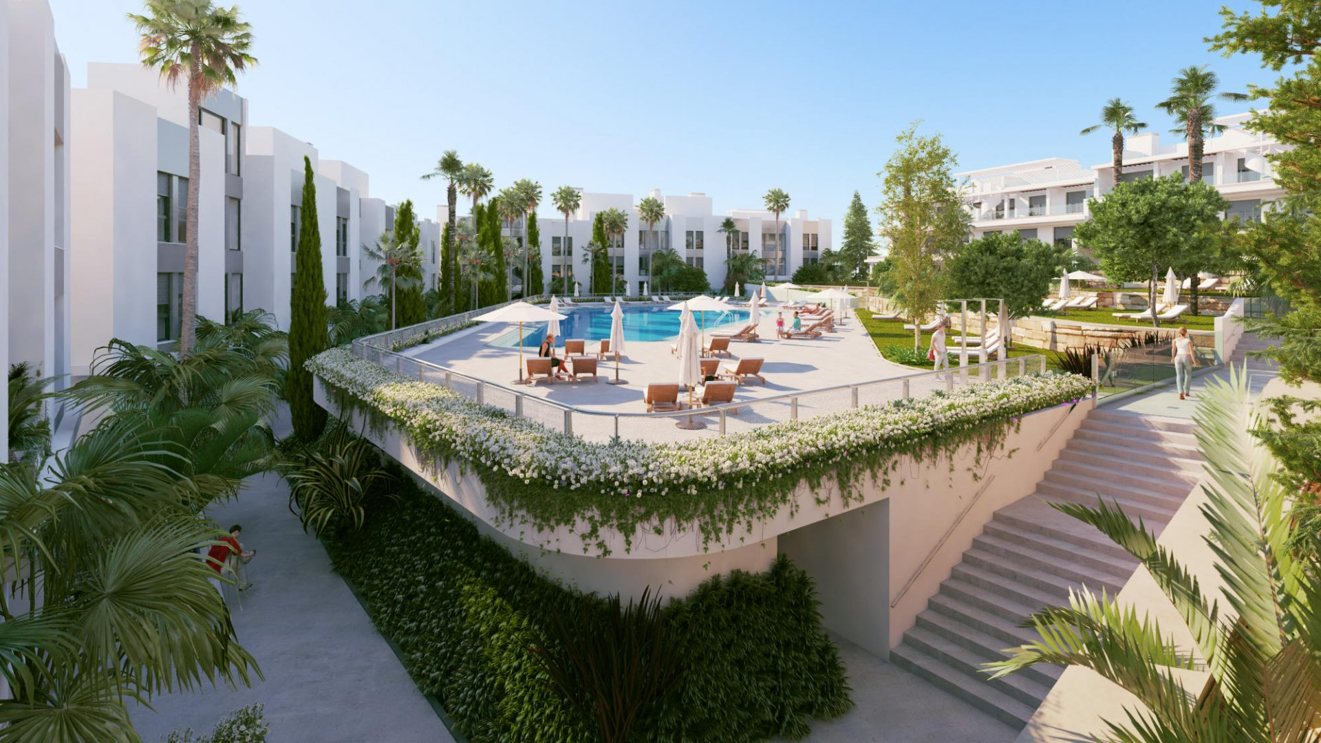 2, 3, 4 bedroom penthouses & townhouses in Cancelada, Estepona