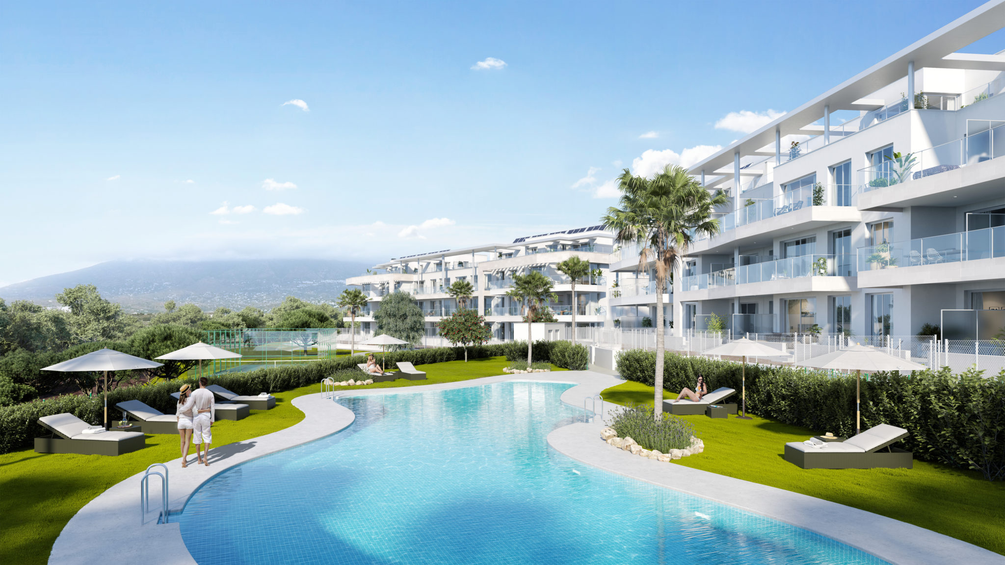2, 3 & 4 bedroom homes with garage parking space in Mijas