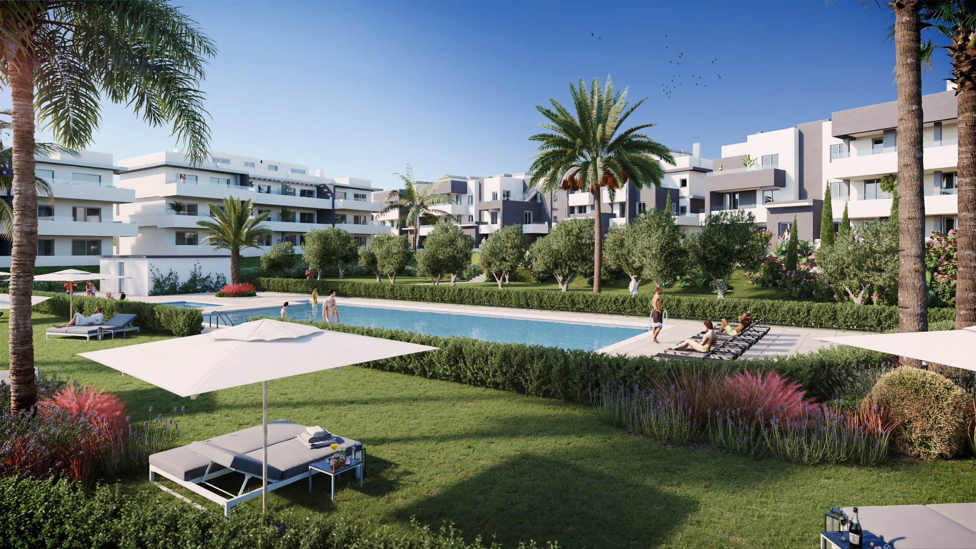 2-3 beds & penthouses next to the beach in Estepona