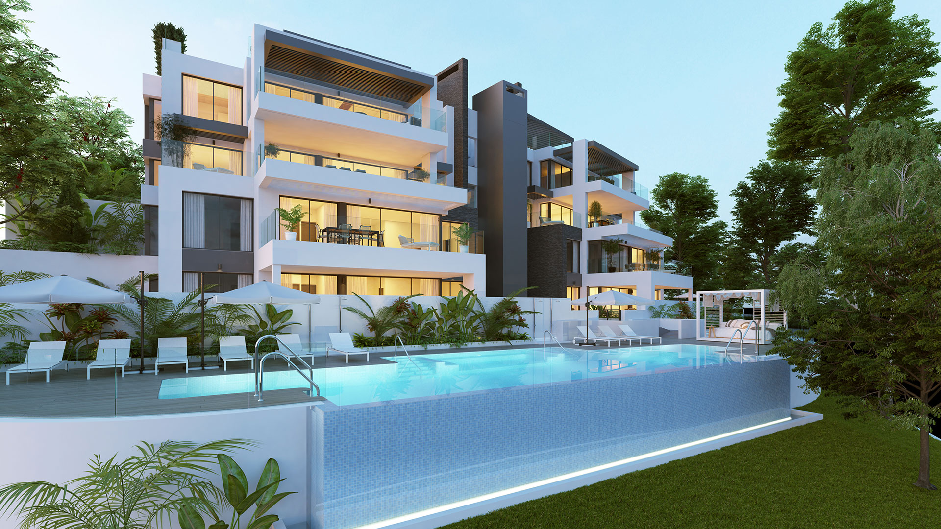Unique development of exclusive apartments and penthouses with 2, 3 and 4 bedrooms.